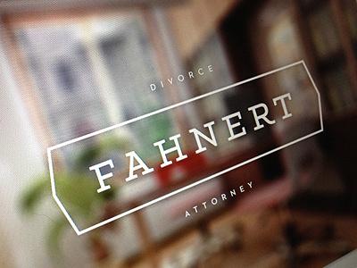 Fahnert Branding fahnert branding logo design typeface simple minimal clean focus lab design logo
