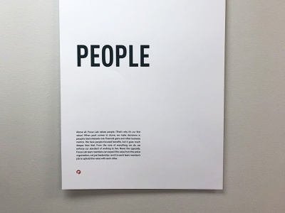 People values people first people poster simple clean branding identity focus lab
