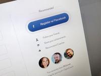 Register w/ facepile feed
