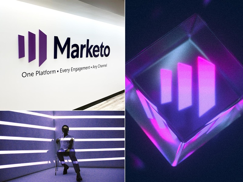 Marketo Rebranding growth doors mark simple logotype m purple marketing revenue branding design brandin marketo clean identity logo design logo branding focus lab