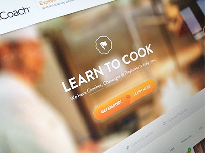 Learn to Cook design coaches navigation web design interface listings filters focus lab ui design