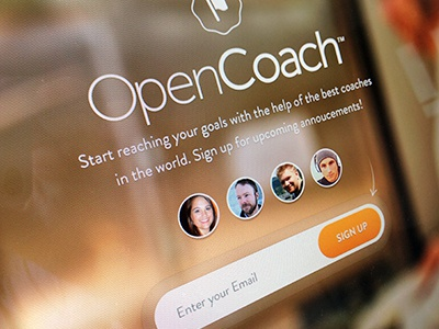 Coming Soon design coaches web design interface ui sign up coming focus lab branding ui design