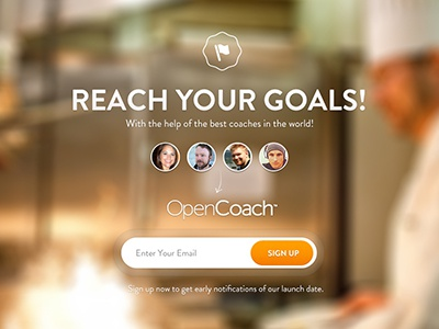 Coming Soon B design opencoach navigation web design interface focus lab soon coming ui landing page ui design