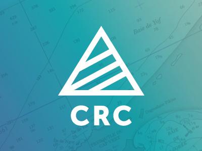 CRC design branding triangle clean mark simple focus lab tech logo logo design