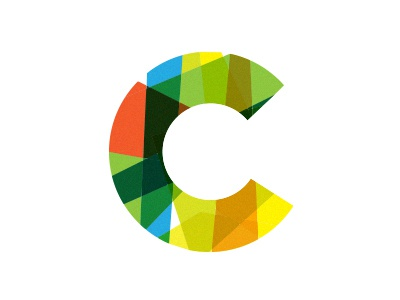 C branding color lover focus lab circle logo design mark c geometric logo design