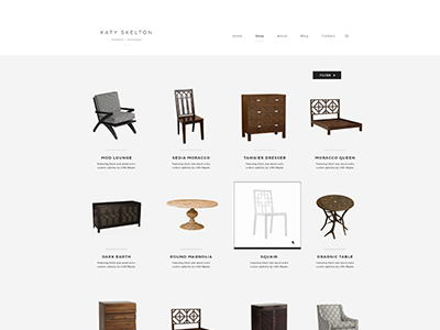 Products design web design branding skelton clean minimal simple furniture focus lab