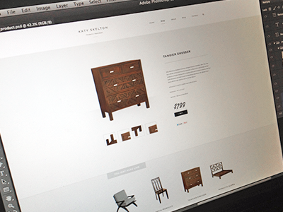 Product Detail design web design focus lab skelton furniture simple clean experience