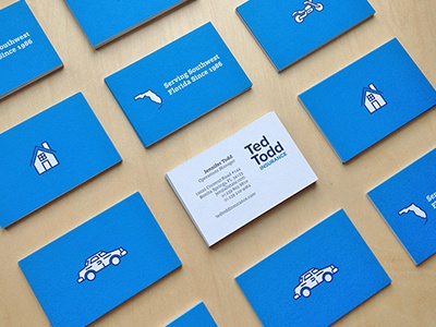 Ted todd business cards