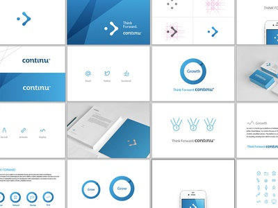 Continue Branding Spread design branding continu focus lab colorful logo simple logotype gradient logo design identity icons print