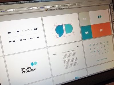 SharePractice Logo design branding medicine sharing doctors focus lab speech pill share practice sharepractice logo simple logo design clean