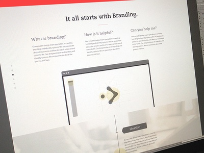 Services Page design branding focus lab new clean red web design services