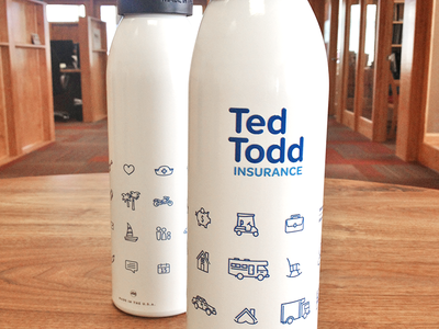 Ted Todd Water Bottles