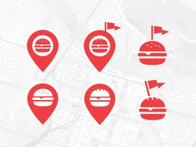 Find the goods design mark branding simple food locations sharing logo logo design focus lab rate flag icon