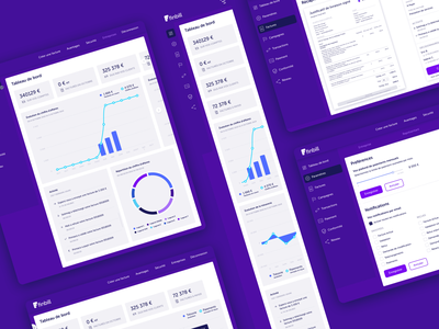 Finbill billing app • Art direction & Product design data visualization product design art direction graphics product ui ux responsive web design app billing finance data design ui design ux design idenitity design