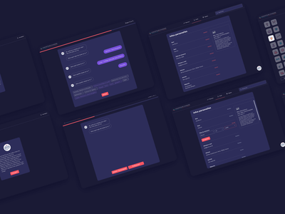 Pixis x Fafiec • Art Direction & UI Design chatbot product design product icon design webapp guidance counseling education dark dark mode dark app dark ui app idenitity ui design ui design