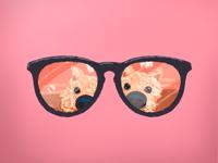 Good Boy Series glasses dog illustration