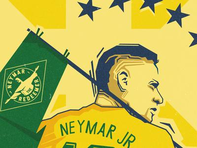 Neymar Propaganda Poster russia propaganda world cup brazil neymar