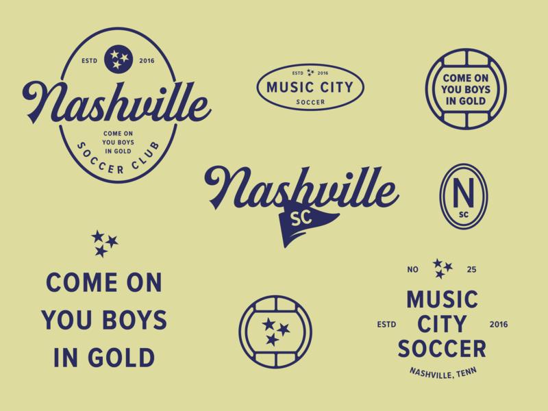 Boys In Gold soccer illustration nashville