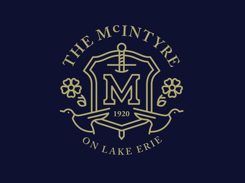 Unused McIntyre Concept illustration badge logo