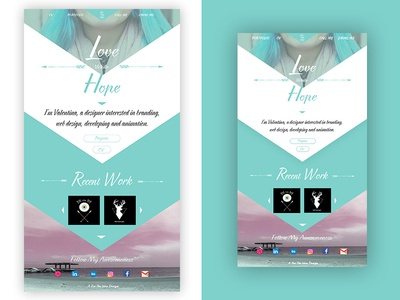 Love With Hope graphic logo illustration design web