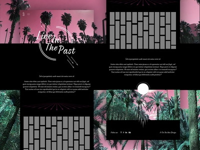 Live In The Past web design graphic