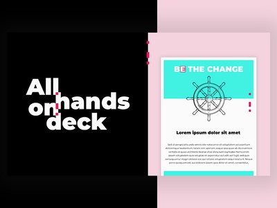 All hands on deck web design graphic