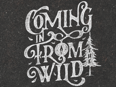 Coming in From the Wild inspiration bob marley quote calligraphy lettering art lettering logo hand lettering lettering illustration vintage classic typography design