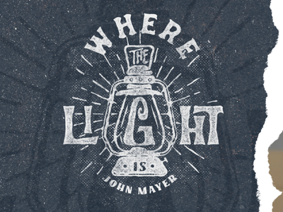 Where the Light is rough illustration vintage classic display typography design vector calligraphy hand lettering digital handlettering band john mayer