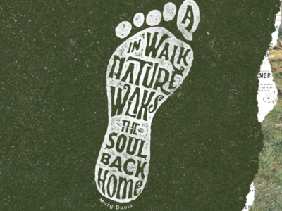 Walks the soul back home icon hand lettering outdoor wild apparel illustration vector custom lettering vintage classic typeface typography display font design