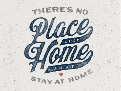 Stay at Home quotes handlettering lettering corona qurantine covid19 workfromhome stay safe stayhome vintage classic typography font design