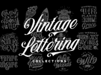 Vintage Lettering Collections classic typedesign illustration lettering vintage typeface display font typography design