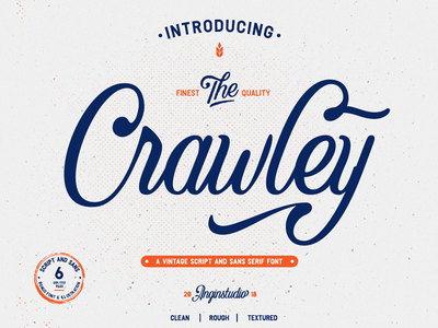 Crawley Vintage Script Font branding vintage script vintage script typeface font