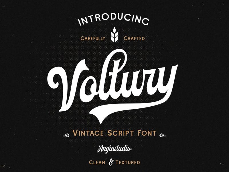 Voltury Script Font badge typography classic design display vintage typedesign font design font bundle creativemarket script typeface font