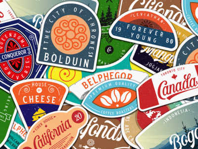Sticker Badge vector classic font design typography script font design badges vintage logodesign logo outdoorbadge badge