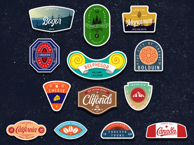 Sticker Badge Extras lettering typedesign vector logo typography font bundle font design typeface script vintage display design font classic outdoorbadge badgedesign badge
