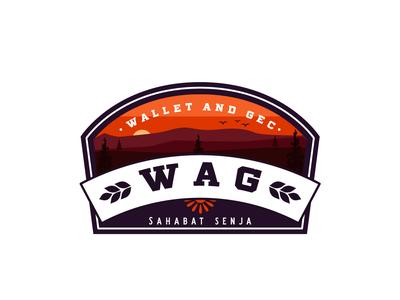WAG Outdoor Badge vector custom badge typography vintage logo display design outdoors outdoor outdoor badge outdoor logo