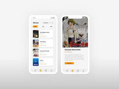 Movie Mobile App practice application movie app mobile app user interface ui design uxdesign ui