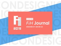 "A logo designed for a journal ""FiH"""