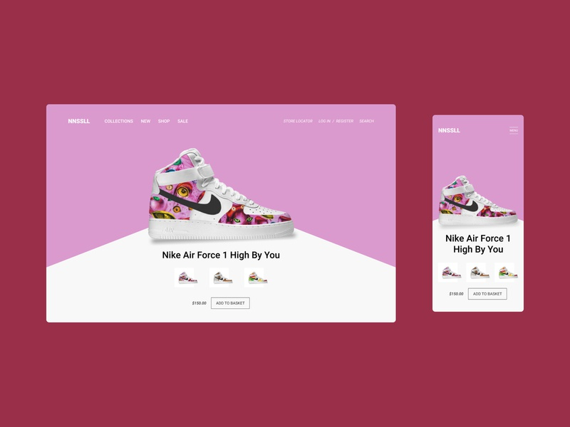 Nike Air Concept homepage webdesign nike nike air pattern concept web mobile interface clean design uiux ux ui