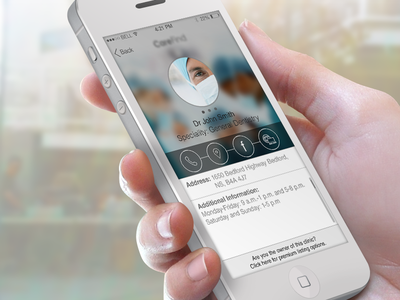 Profile Screen  ios iphone user interface ios7 profile icons carefind social location call flat