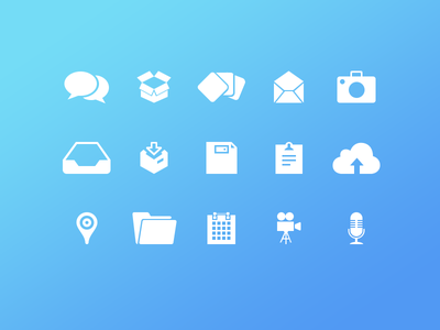 Chat and Email Icons(Freebies) ios iphone ui ux flat icons chat email voice gallery camera video