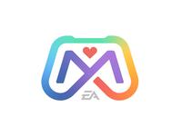 Mosaic logomark inclusion diversity gaming video game m controller logodesign logos logo design logotype branding logo