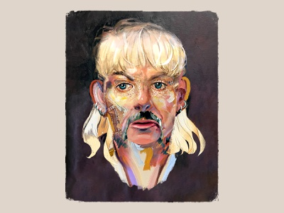 Joe Exotic design poster portrait collage illustration art