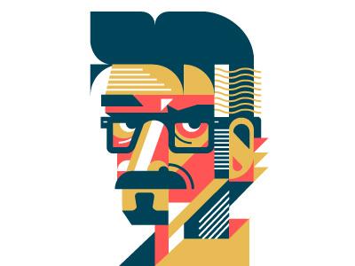 Maron vector illustration portrait marc maron wtf