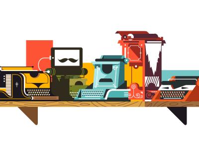Typewriters vector illustration typewriter