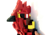 Lego Rooster Taxidermy