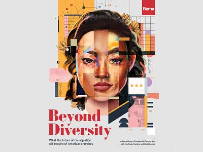 Beyond Diversity book cover book cover illustration typography design portrait collage artwork art