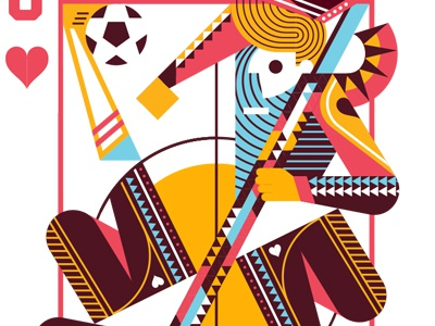 Jack of Hearts playing cards hearts jack soccer illustration vector