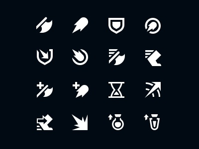 Stats league of legends iconography icons vector