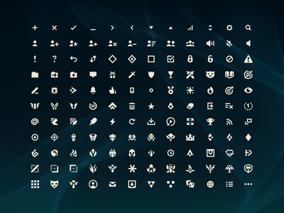 Hextech Iconography interface ui league of legends hextech icon suite iconography icons vector